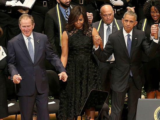 George W. Bush's 'Dancing' at Dallas Police Memorial Service Sparks Social Media Debate