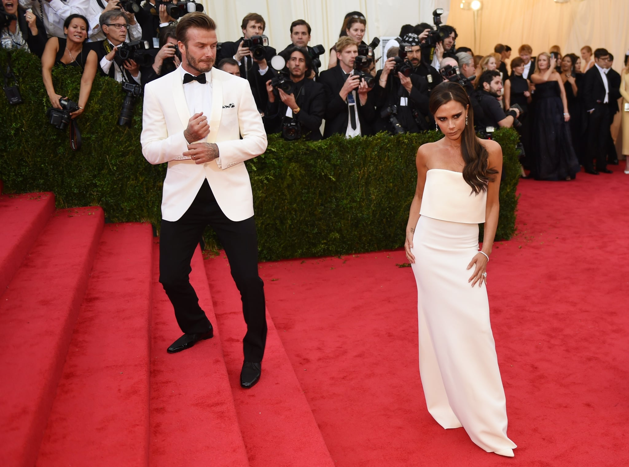 David Beckham waited for Victoria.