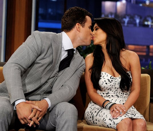 Kris Humphries and Kim Kardashian looked completely in love in October 2011 during an appearance on The Tonight Show.