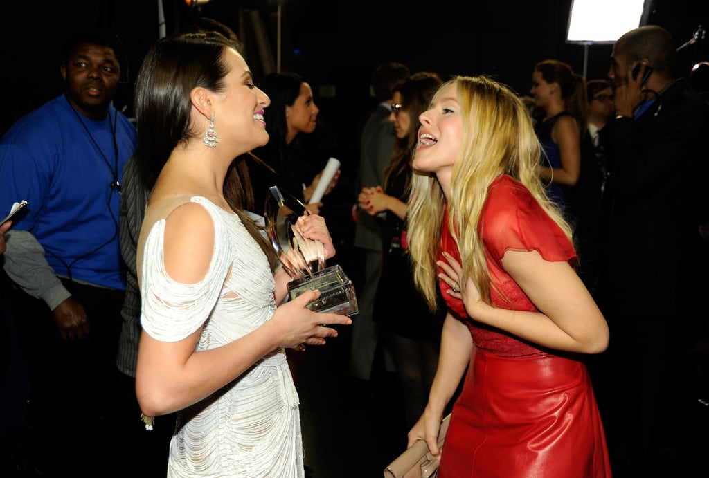 Lea Michele and Kristen Bell