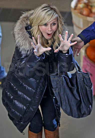 Pictures of Reese Witherspoon and Chris Pine on the Set of This Means War in Vancouver