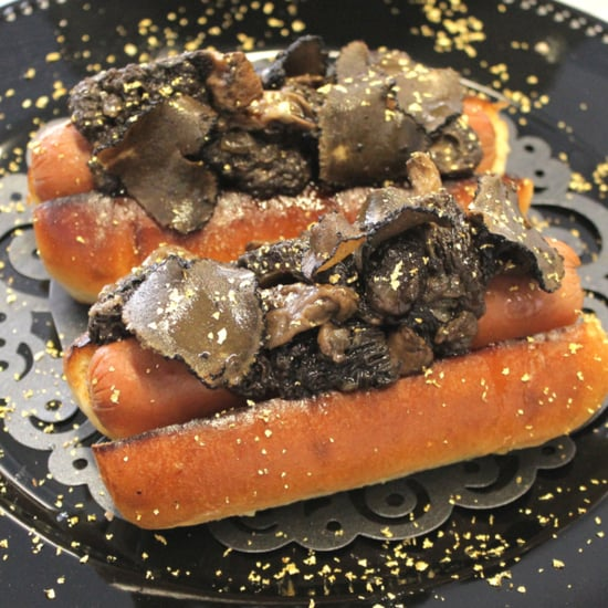 Hot Dog With Black Truffles and Edible Gold