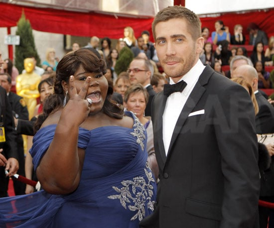 Slide Photo of Gabourey Sidibe and Jake Gyllenhaal at the Oscars