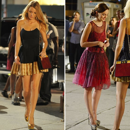 Blake Lively and Leighton Meester Spend a Night on Set