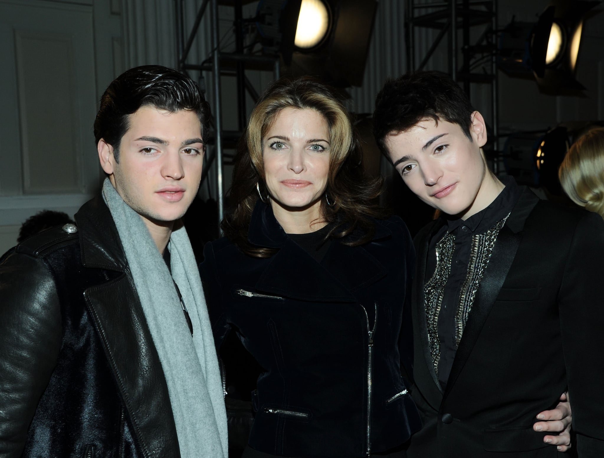 Stephanie Seymour and her sons Peter and Harry Brant checked out Friday's Jason Wu presentation.