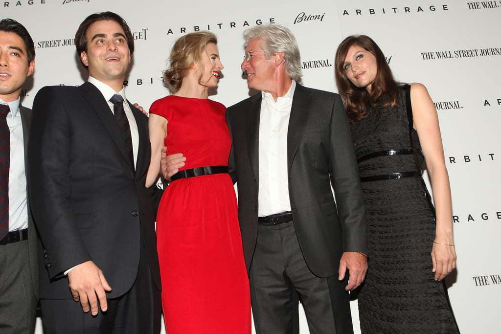 Brit Marling and Richard Gere chatted on the red carpet, flanked by their costars.