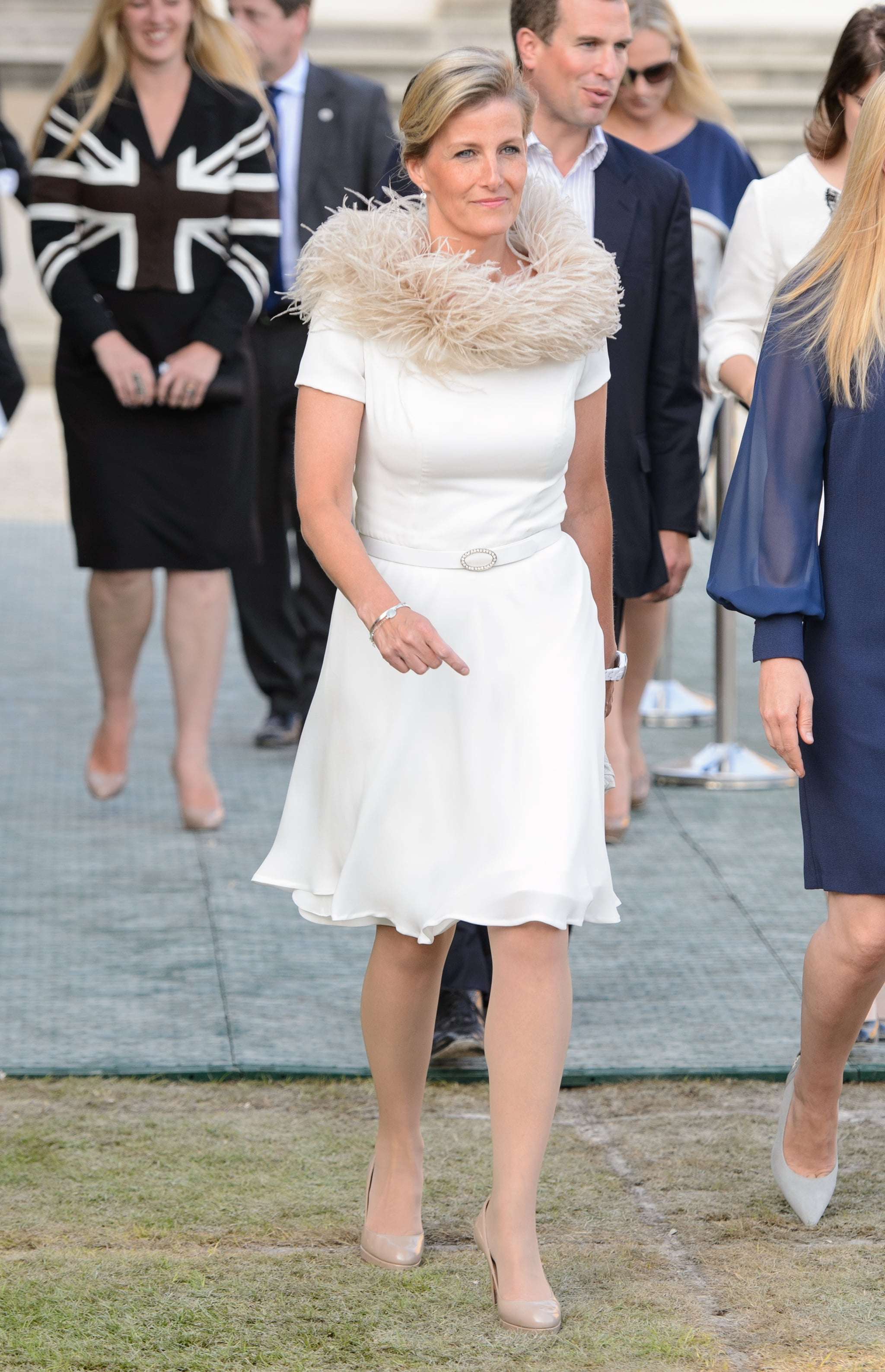 Sophie, Countess of Wessex, attended the gala at Buckingham Palace.