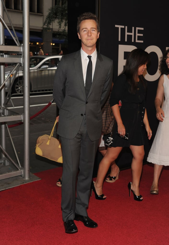 Edward Norton gave a smile at The Bourne Legacy's world premiere in NYC.