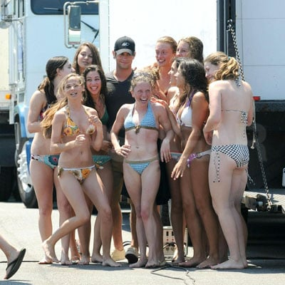 Chace Crawford Films Gossip Girl in the Hamptons