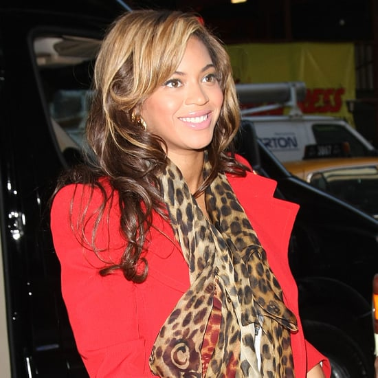 Beyonce Knowles in Red Jacket Pictures