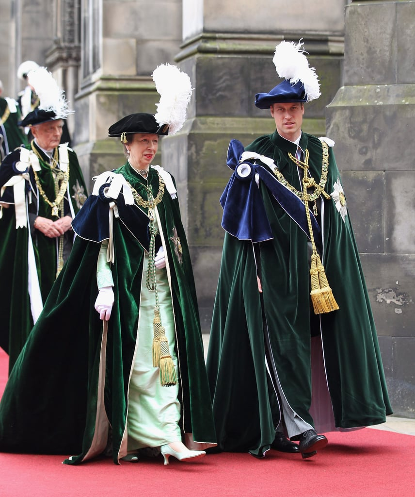 Prince William was honoured at the Thistle Ceremony in Edinburgh.