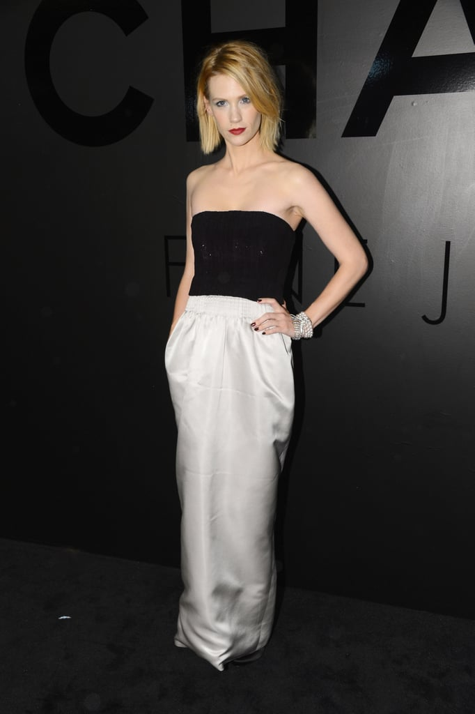 """January Jones attended Chanel's celebration of the 80th Anniversary Of The """"Bijoux De Diamants"""" Collection."""