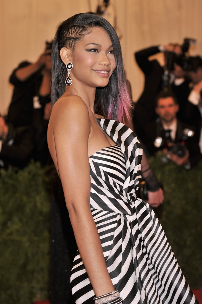 Whoever braided Chanel Iman's undercut for the Met Gala is truly talented, and the addition of pastel pink ends played perfectly into the theme of the night.