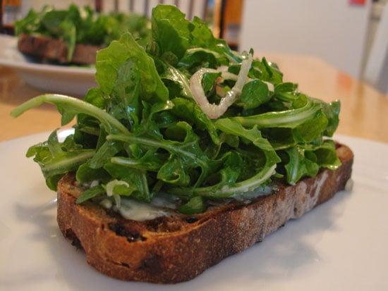 Recipe For Blue Cheese and Arugula Crostini