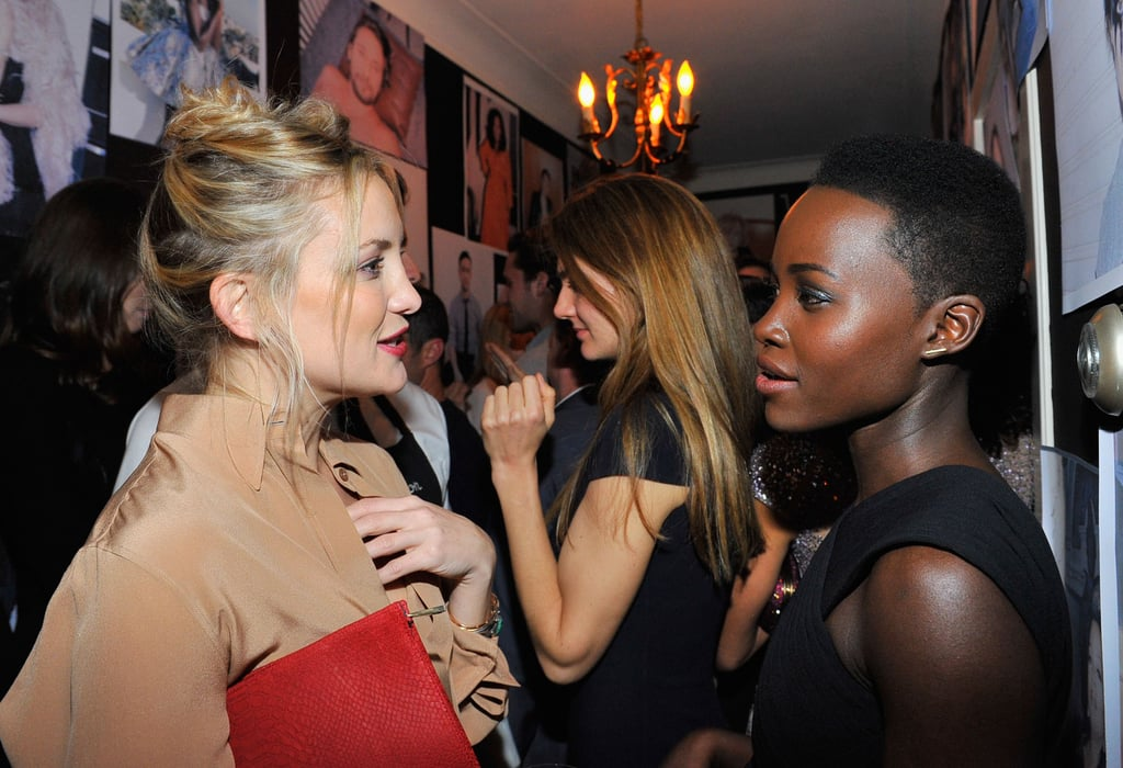 Kate Hudson chatted with Lupita Nyong'o on Thursday at W magazine's star-studded fete.
