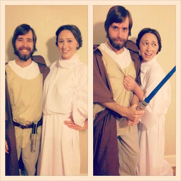Obi Wan and Leia