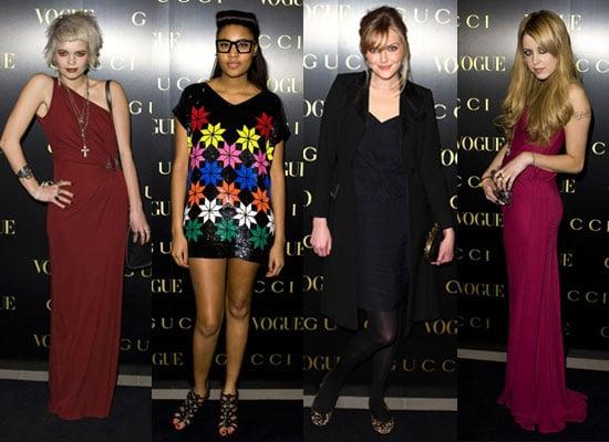 Photos of Pixie Geldof, VV Brown, Sophie Dahl, Peaches Geldof at Gucci Vogue Dinner