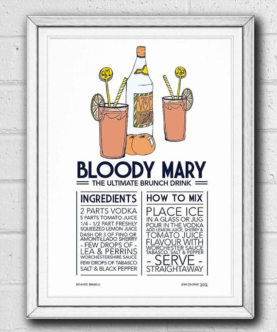 Bloody Mary Print