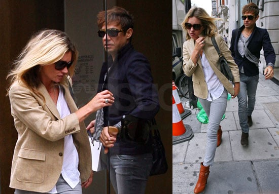 Photos of Kate Moss, With Her New Tattoo, and Jamie Hince Out in London