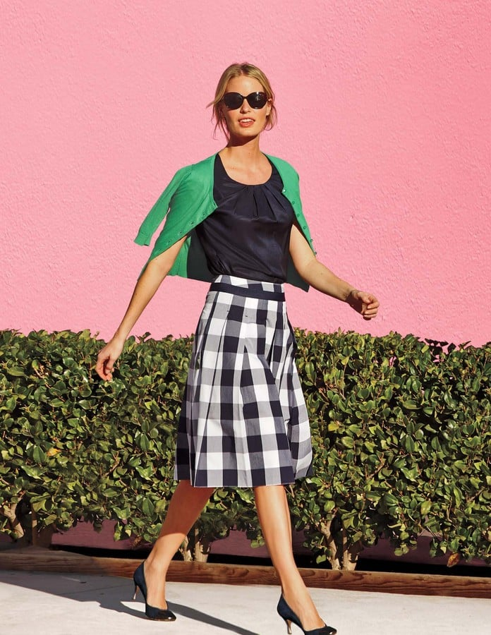 Boden Gingham Full Skirt