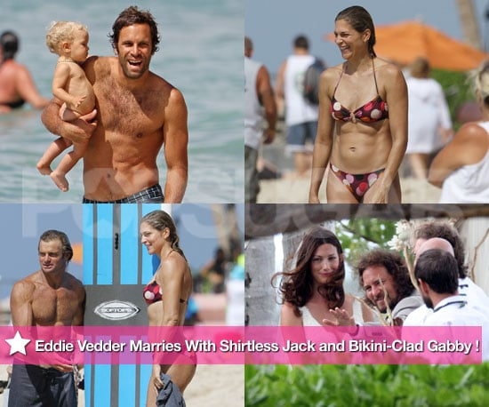 Pictures of Gabby Reece in a Bikini With Shirtless Laird Hamilton and Jack Johnson at Eddie Vedder's Wedding to Jill McCormick