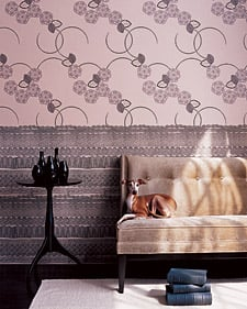 Cool Idea: Wallpaper Wainscoting