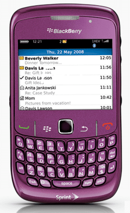 Sprint Announces the New BlackBerry Curve 8530