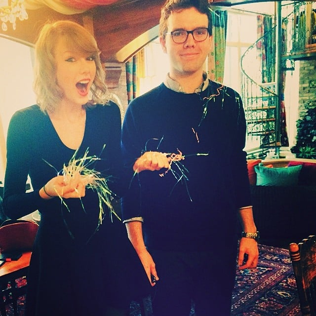 """Confetti-bombed my brother for his birthday and he was like,"" Taylor Swift captioned this photo of her less-than-enthused brother. Source: Instagram user taylorswift"