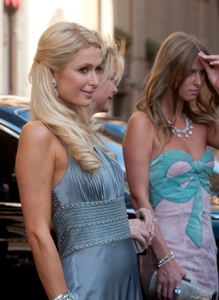 Paris and Nicky Hilton traveled to Rome for Petra's wedding.