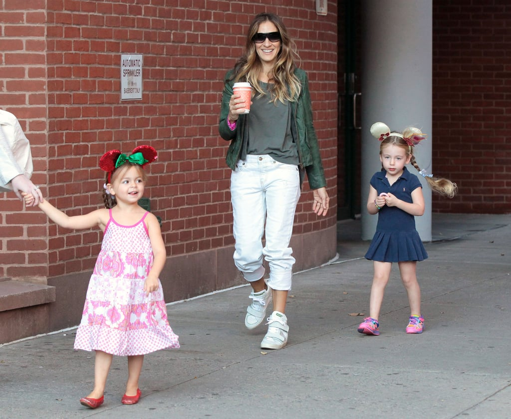 Sarah Jessica Parker walked her twins to school in NYC.