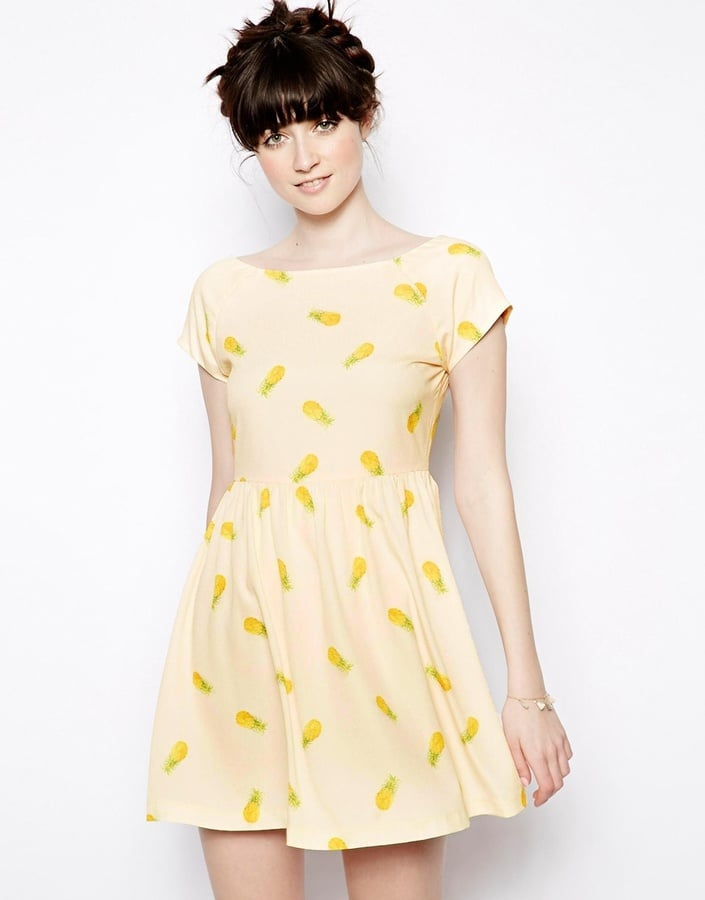 Nishe Pineapple-Print Skater Dress