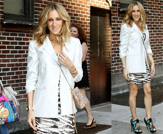 Pictures and Video of Sarah Jessica Parker at The Late Show with David Letterman Talking About James Wilkie & Matthew Broderick