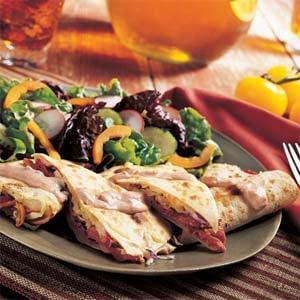 Fast & Easy Dinner: Reuben Quesadillas