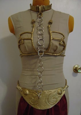 The Princess Leia Gold Bikini Costume From Etsy