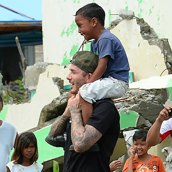 David Beckham Playing With Kids in the Philippines