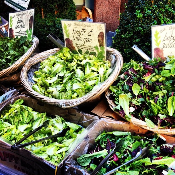 We stopped by the farmers market outside of the POPSUGAR offices to pick up some yummy greens.