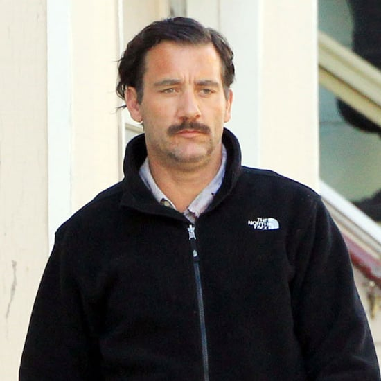 Pictures of Clive Owen With a New Mustache in San Francisco