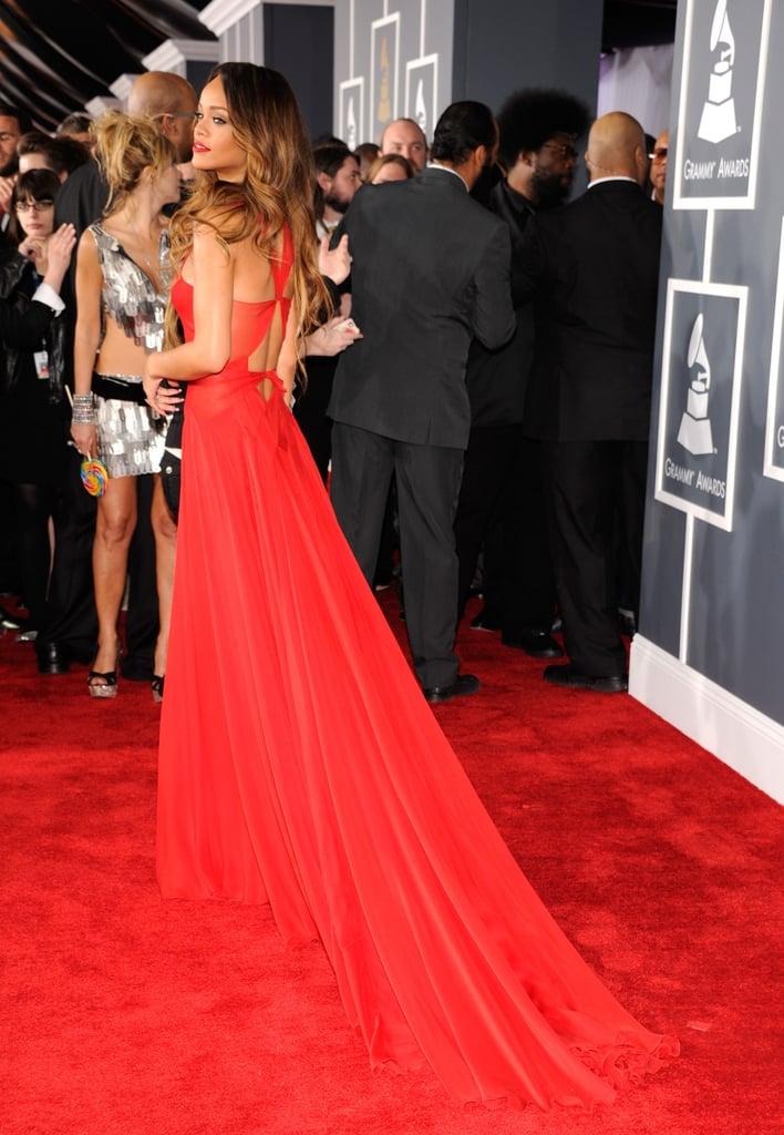 Rihanna's custom Azzedine Alaïa dress was one of the best looks of the night.