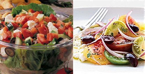 Greek Salad Two Ways — Beginner and Expert
