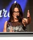 Julia Louis-Dreyfus was all smiles on stage.
