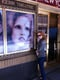 Jessica Chastain posed next to her Broadway poster. Source: Facebook user Jessica Chastain