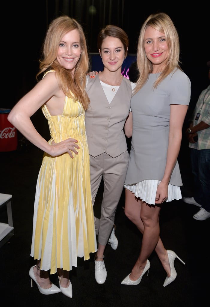 Leslie Mann, Shailene Woodley, and Cameron Diaz met up at CinemaCon in Las Vegas on Thursday.