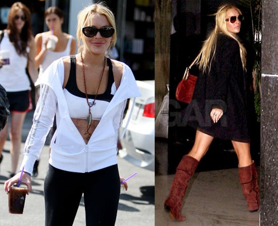 Pictures of Lindsay Lohan in a Sports Bra and Meeting New Lawyer