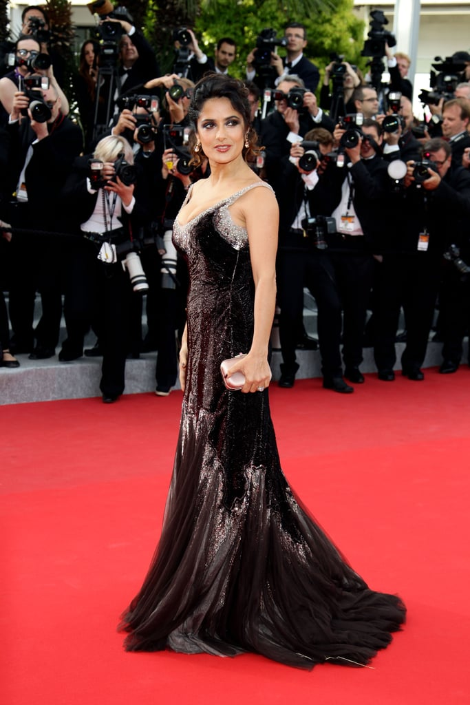 Salma Hayek put her curves on display at the Cannes Film Festival in 2012 when she attended the premiere of Madagascar 3: Europe's Most Wanted.