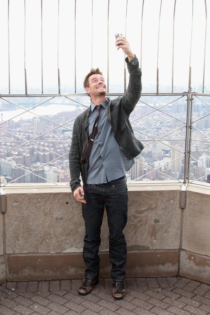 Josh Duhamel captured his February 2013 visit to the Empire State Building.