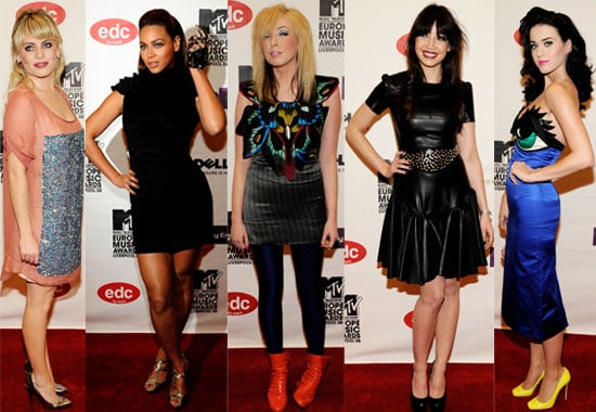 Photos Of Female Celebs At the MTV Europe Music Awards 2008, including Katy Perry, Beyonce,