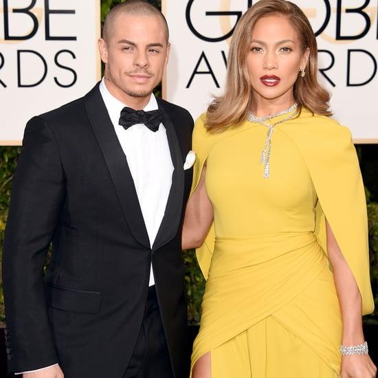 Jennifer Lopez and Casper Smart's PDA at 2016 Golden Globes