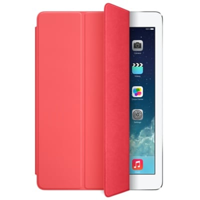 The Smart Cover ($39) is here to stay. For the iPad Air, the snap-on cases are in complementary colors to the iPhone 5C line.