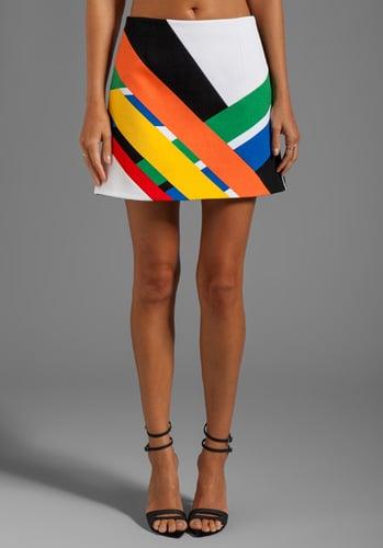 Tibi Transit Print Mini Skirt