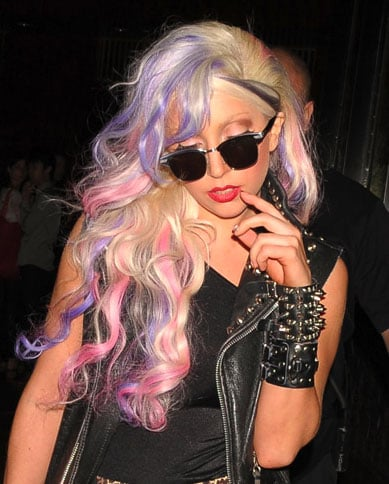 Lady Gaga's New Purple and Pink Hair